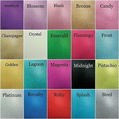 Cake Topper Glitter Colour Chart